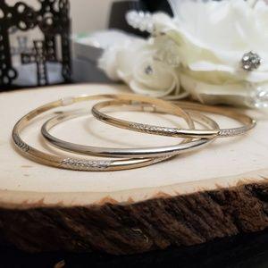Jewelry - Set of Vintage Sterling Silver 14k GF Bracelets